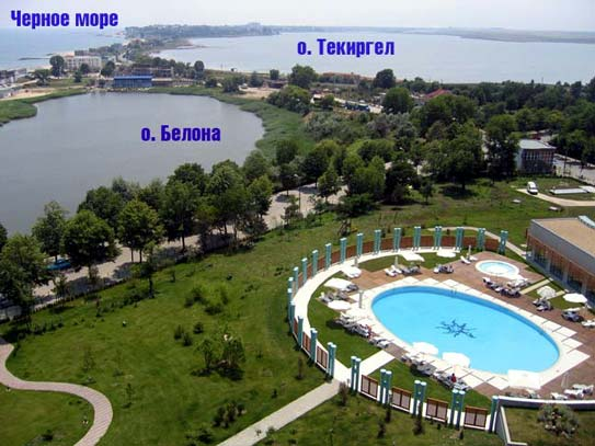 Панорама курорта Эфорие Норд из отеля Европа (www.jiviekluchi.ru/)